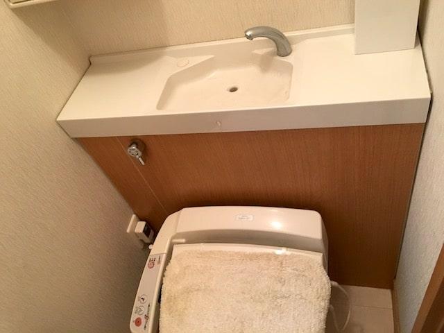 タンクアリのトイレ