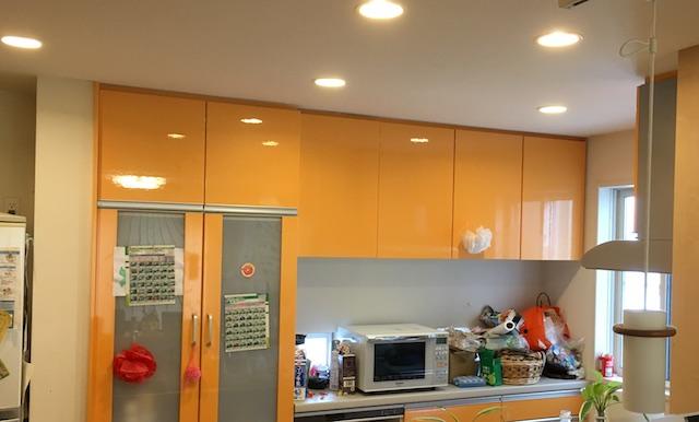 キッチンの色