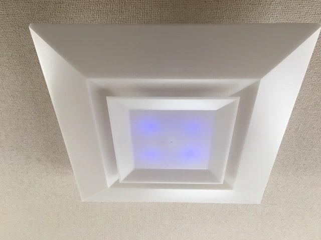 寝室の照明の常備灯