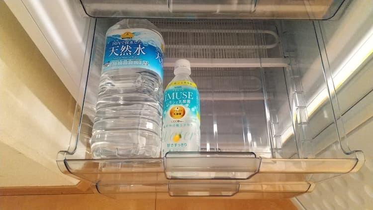 冷凍庫のトレイ2段目
