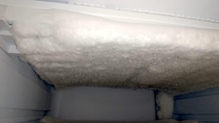 天井部分の霜